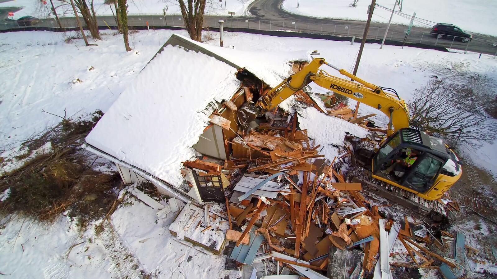 Beginning of Demolition